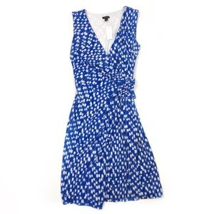 Ann Taylor v neck faux wrap sleeveless dress